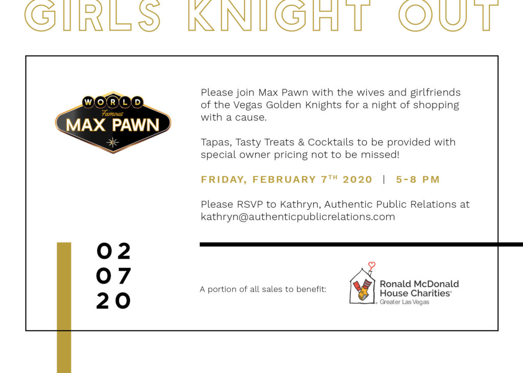 Max Pawn Golden Knights Charity Event
